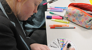 Creating character strengths wheels in the classroom