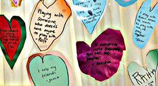 Student's kindness hearts and comments