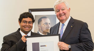 Kedar Abhyanker receives Hawker Scholarship at the Australian National University (ANU)