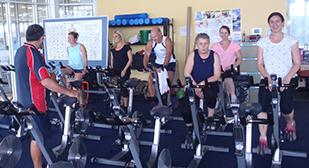 Staff on Exercise Bikes