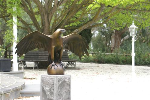 Lucy McEachern Ga99 Wedge Tailed Eagle limited edition bronze of 25 100 x 50 x 25cm Custom.JPG