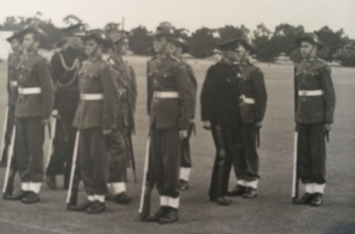 Rory-Argyle-Governor-General-Field-Marshall-Sir-William-Slim-inspecting-the-School-Guard-in-1953-Rory-front-row-left