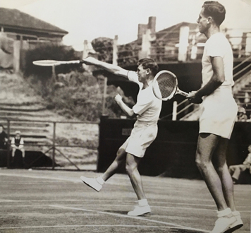 Frank Sedgman and Ken McGregor at Kooyong