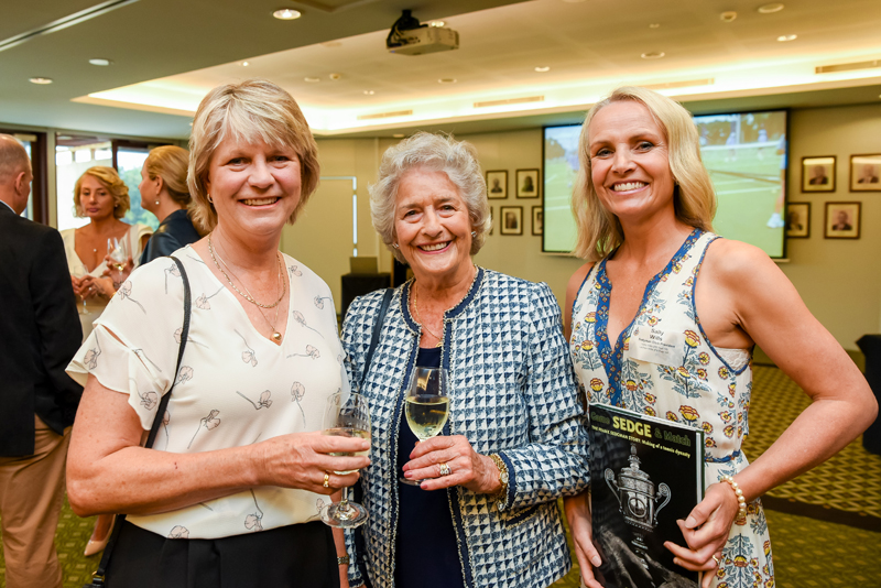 Linda and Jean Sedgman with Sally Wills