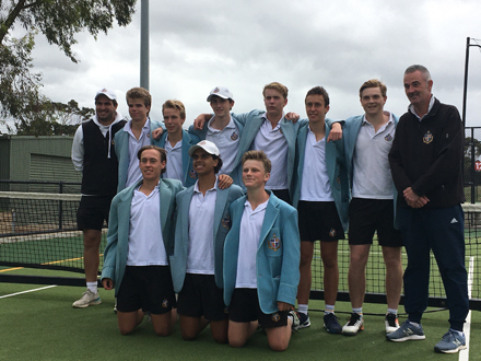 Tennis Boys 1sts 2020 with coaches